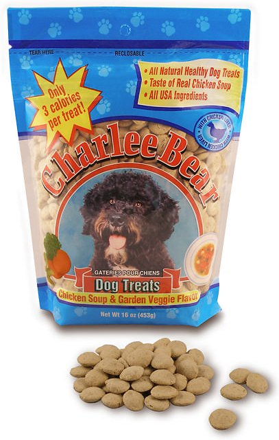 Charlee Bear Chicken Soup & Garden Veggie Flavor Dog Treats, 16-oz bag