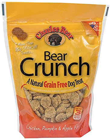 Charlee Bear Natural Bear Crunch Chicken, Pumpkin & Apple Grain-Free Dog Treats, 8-oz bag