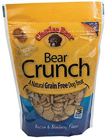 Charlee Bear Natural Bear Crunch Bacon & Blueberry Grain-Free Dog Treats, 8-oz bag