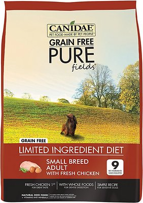 CANIDAE Grain-Free PURE Fields with Chicken Small Breed Limited Ingredient Diet Adult Dry Dog Food