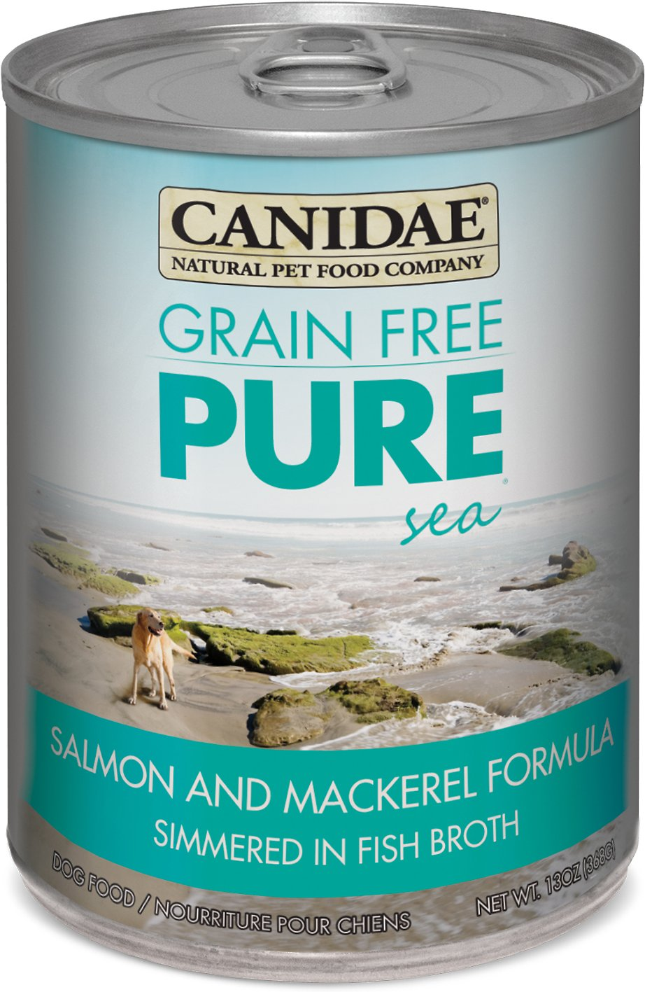 CANIDAE Grain-Free PURE Sea Salmon & Mackerel Formula Canned Dog Food, 13-oz, case of 12 Image