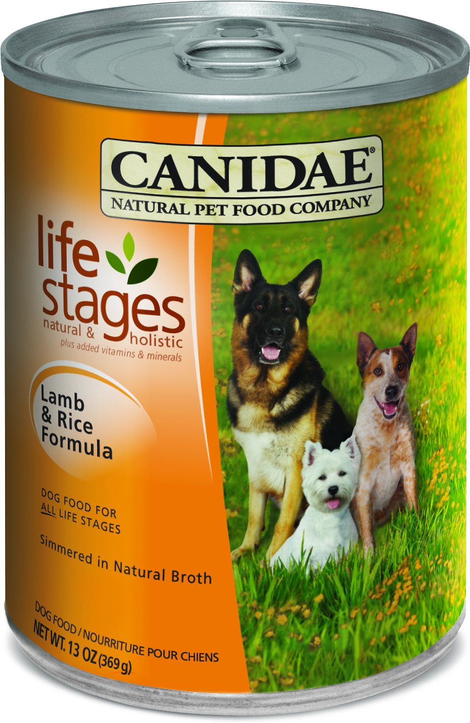 CANIDAE Life Stages Lamb & Rice Formula Canned Dog Food, 13-oz