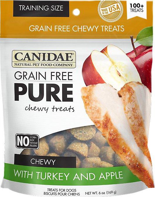 CANIDAE Grain-Free PURE Turkey & Apple Chewy Dog Treats, 6-oz bag