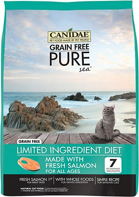 CANIDAE Grain-Free Limited Ingredient Diet PURE Sea with Salmon Limited Ingredient Diet Dry Cat Food