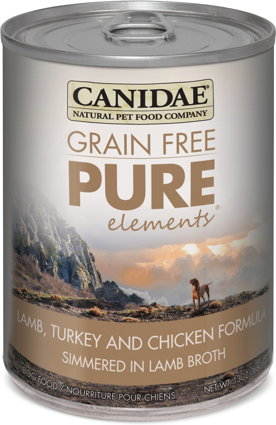 CANIDAE Grain-Free PURE Elements Lamb, Turkey & Chicken Formula Canned Dog Food, 13-oz