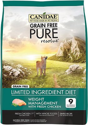 CANIDAE Grain-Free PURE Resolve Weight Management with Chicken Limited Ingredient Diet Adult Dry Dog Food