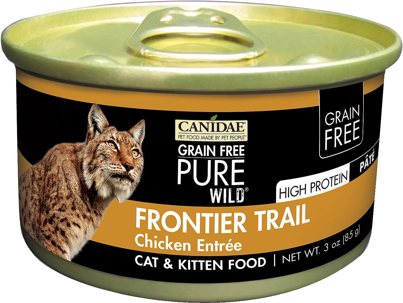 CANIDAE Grain-Free PURE WILD Frontier Trail with Chicken Canned Cat Food, 3-oz