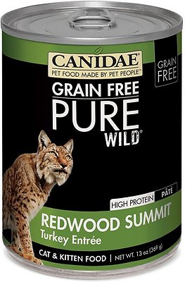 CANIDAE Grain-Free PURE WILD Redwood Summit with Turkey Canned Cat Food