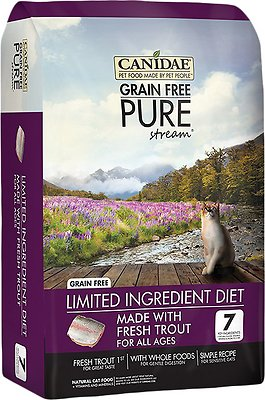 CANIDAE Grain-Free PURE Stream with Trout Limited Ingredient Diet Dry Cat Food