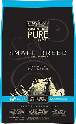 CANIDAE PURE Petite Chicken Formula Small Breed Grain-Free Limited Ingredient Diet Adult Dry Dog Food