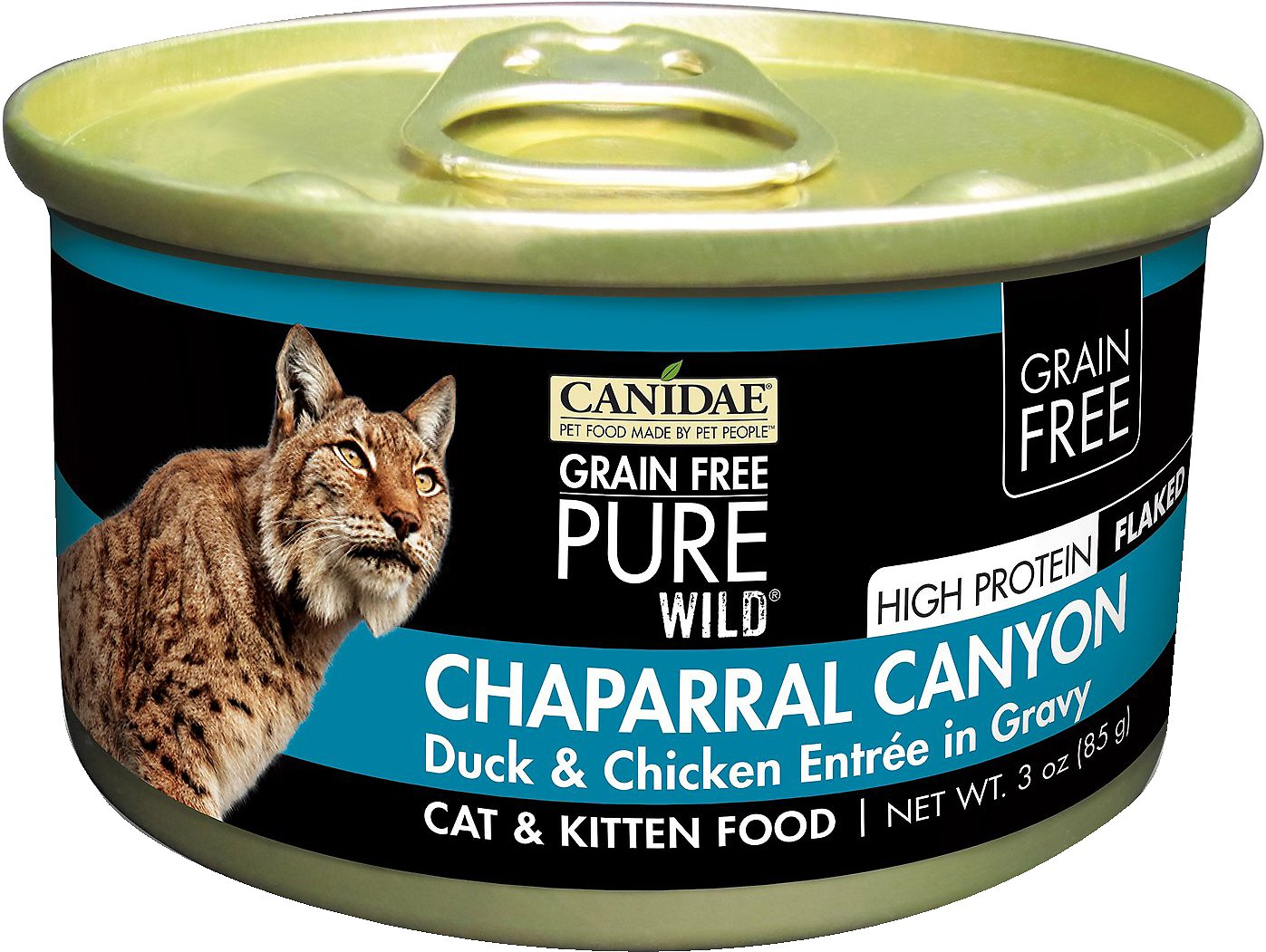 CANIDAE Grain-Free PURE WILD Chaparral Canyon with Duck & Chicken Canned Cat Food, 3-oz