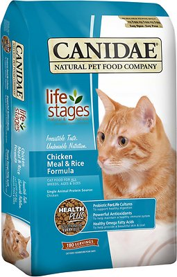 CANIDAE Life Stages Chicken Meal & Rice Formula Dry Cat Food