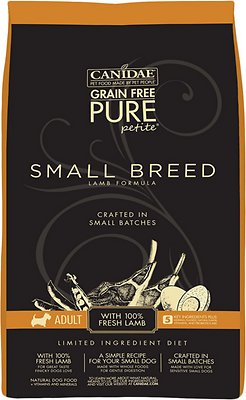 CANIDAE Grain-Free PURE Petite Lamb Formula Small Breed Limited Ingredient Diet Adult Dry Dog Food