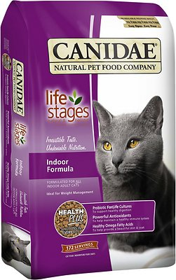 CANIDAE Life Stages Indoor Formula Adult Dry Cat Food