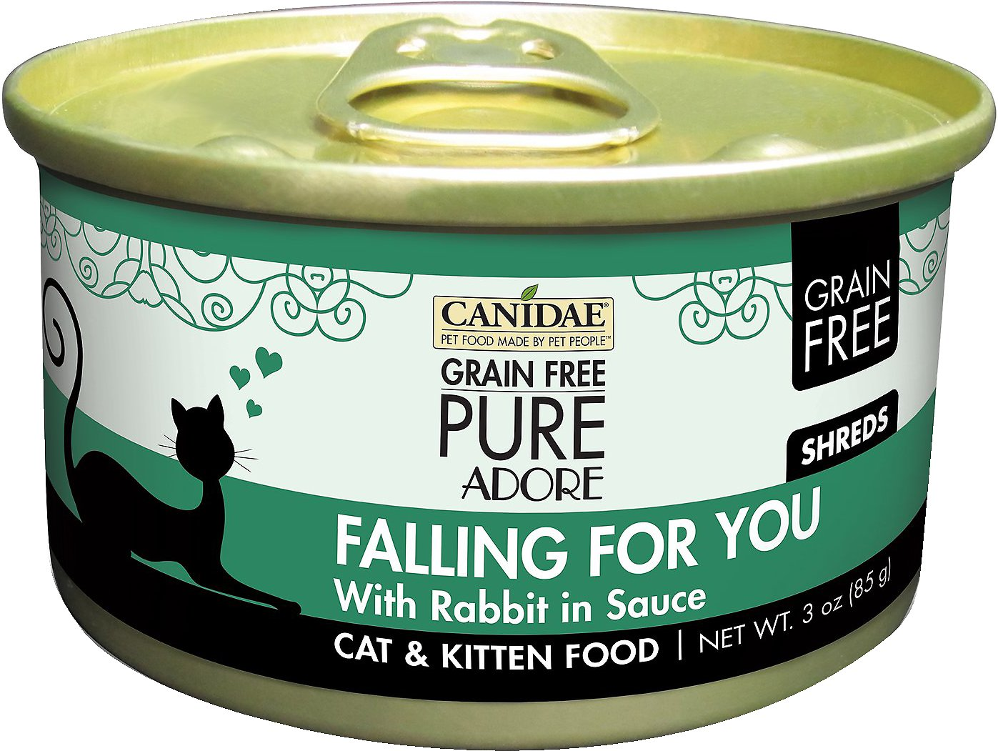 CANIDAE Grain-Free PURE Adore Falling For You with Rabbit Canned Cat Food, 3-oz