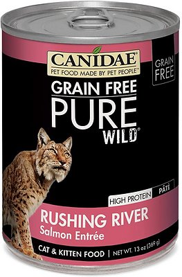 CANIDAE Grain-Free PURE WILD Rushing River with Salmon Canned Cat Food