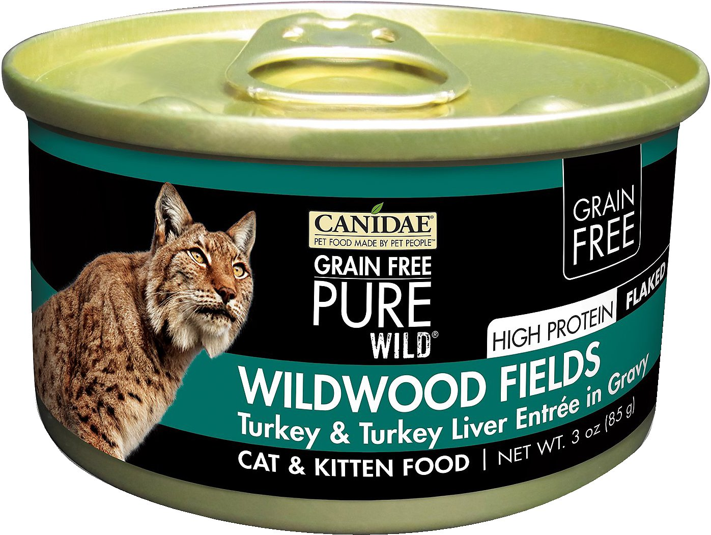 CANIDAE Grain-Free PURE WILD Wildwood Fields with Turkey & Turkey Liver Canned Cat Food, 3-oz