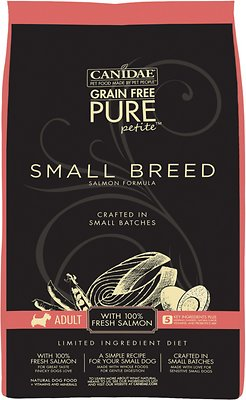 CANIDAE Grain-Free PURE Petite Salmon Formula Small Breed Limited Ingredient Diet Adult Dry Dog Food