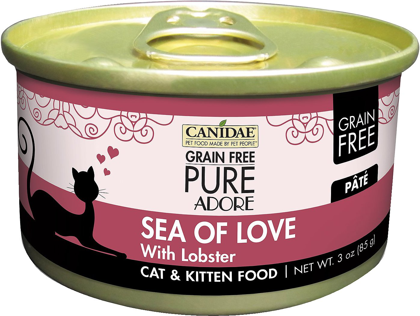 CANIDAE Grain-Free PURE Adore Sea of Love with Lobster Canned Cat Food, 3-oz