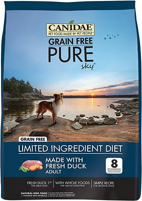 CANIDAE Grain-Free PURE Sky with Duck Limited Ingredient Diet Adult Dry Dog Food
