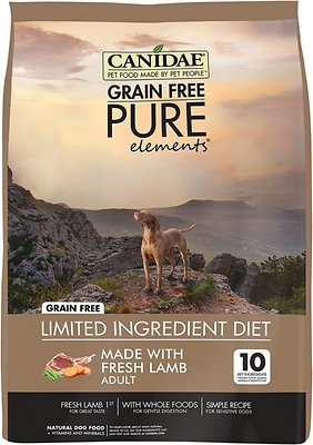 CANIDAE Grain-Free PURE Elements with Lamb Limited Ingredient Diet Adult Dry Dog Food