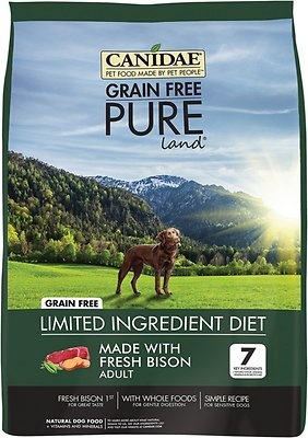 CANIDAE Grain-Free PURE Land with Bison Limited Ingredient Diet Adult Dry Dog Food