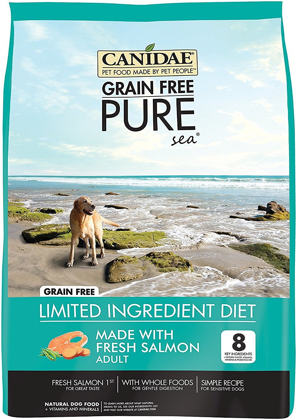 CANIDAE Grain-Free PURE Sea with Salmon Limited Ingredient Diet Adult Dry Dog Food Image