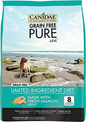 CANIDAE Grain-Free PURE Sea with Salmon Limited Ingredient Diet Adult Dry Dog Food, 24-lb