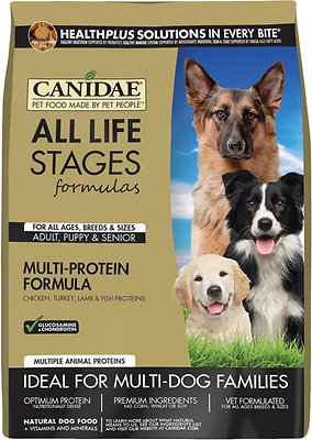 CANIDAE All Life Stages Multi-Protein Formula Dry Dog Food Weights: 5.0 pounds, Size: 5-lb bag