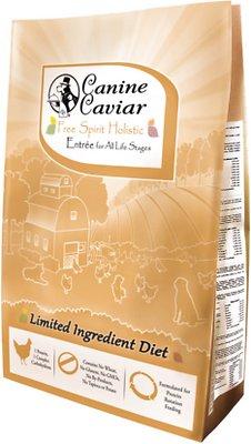 Canine Caviar Limited Ingredient Diet Free Spirit Holistic Entrée All Life Stages Dry Dog Food, 4.4-lb bag