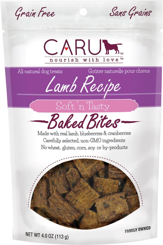 Caru Soft 'n Tasty Baked Bites Lamb Recipe Grain-Free Dog Treats, 4-oz bag