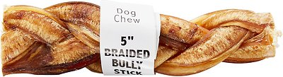 "Bully Sticks Braided Bully Sticks 5"" Dog Treats"