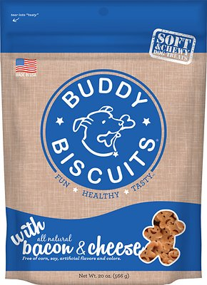 Buddy Biscuits with Bacon & Cheese Soft & Chewy Dog Treats