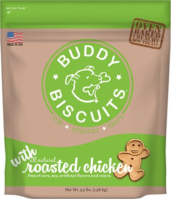 Buddy Biscuits with Roasted Chicken Oven Baked Dog Treats