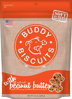 Buddy Biscuits with Peanut Butter Soft & Chewy Dog Treats