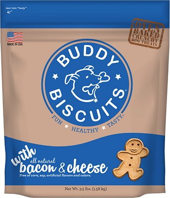 Buddy Biscuits with Bacon & Cheese Oven Baked Dog Treats