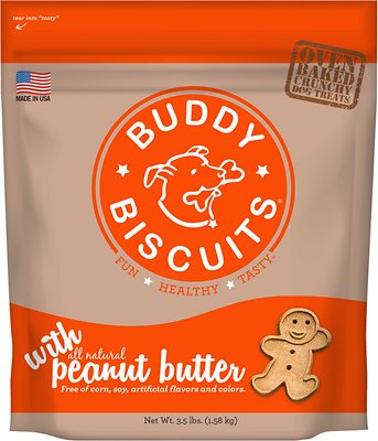 Buddy Biscuits with Peanut Butter Oven Baked Dog Treats