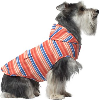 Canada Pooch Dog Rain Poncho, Stripes, 12
