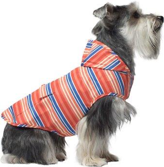 Canada Pooch Dog Rain Poncho, Stripes, 22