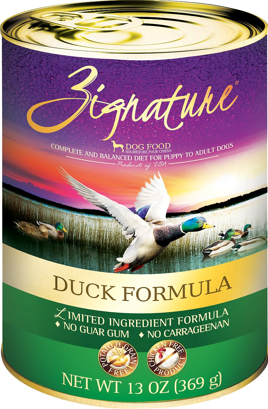 Zignature Duck Limited Ingredient Formula Grain-Free Canned Dog Food, 13-oz