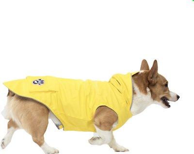 Canada Pooch Yellow Torrential Tracker Dog Raincoat, 16