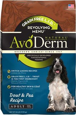 AvoDerm Natural Grain-Free Revolving Menu Trout & Pea Recipe Adult Dry Dog Food