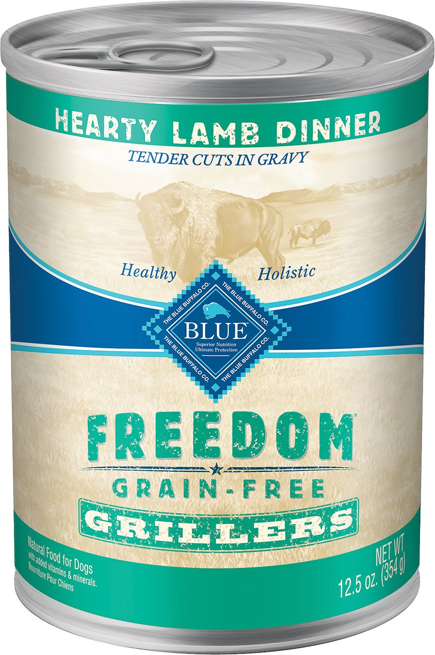 Blue Buffalo Freedom Grillers Hearty Lamb Dinner Grain-Free Canned Dog Food, 12.5-oz, case of 12