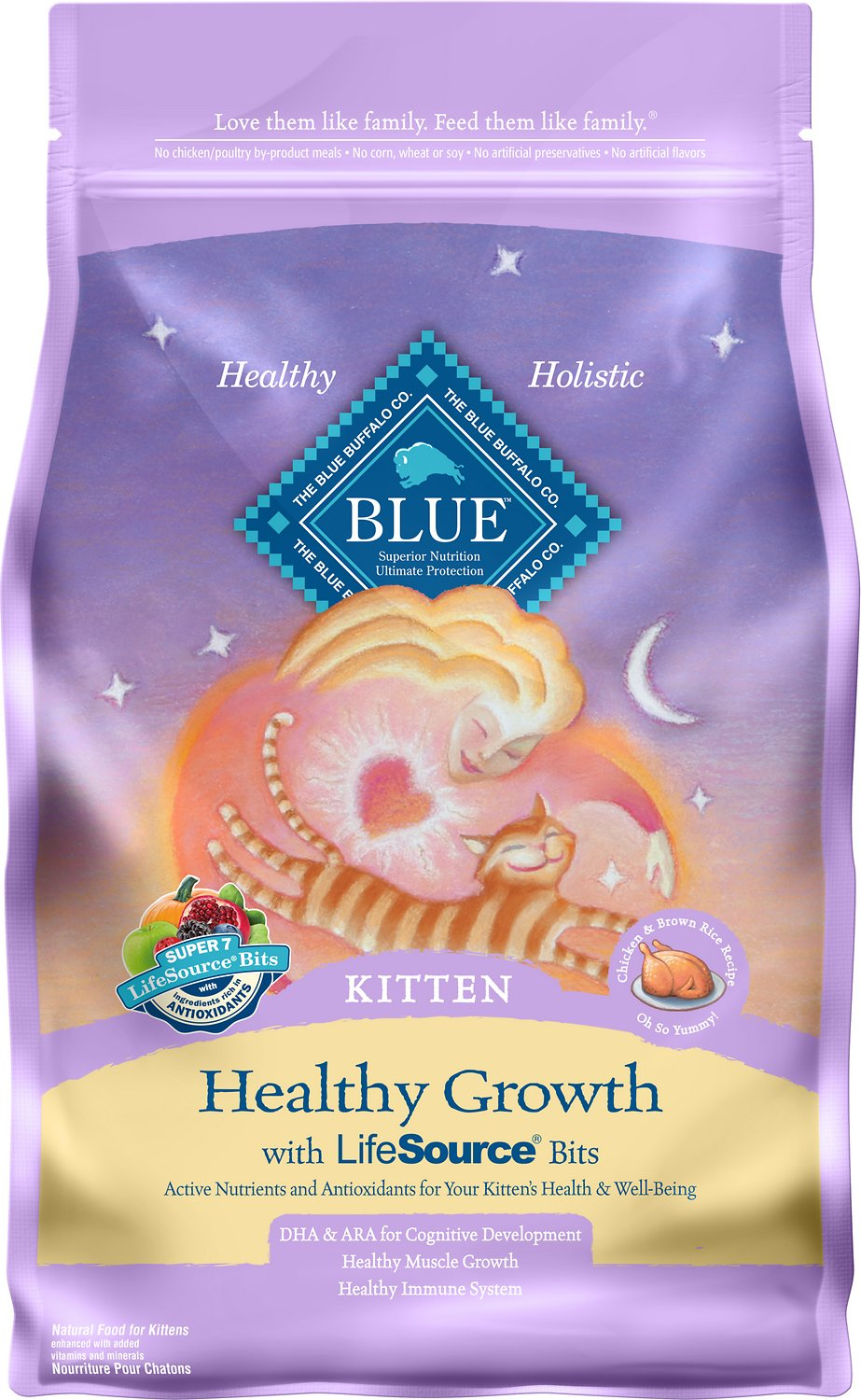 Blue Buffalo Healthy Growth Kitten Chicken & Brown Rice Recipe Dry Cat Food Image