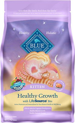 Blue Buffalo Healthy Growth Kitten Chicken & Brown Rice Recipe Dry Cat Food