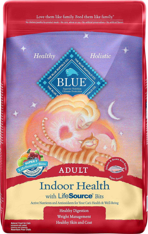 Blue Buffalo Indoor Health Salmon & Brown Rice Recipe Adult Dry Cat Food Image