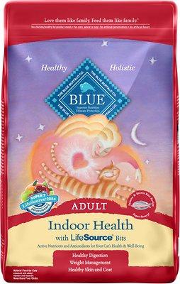 Blue Buffalo Indoor Health Salmon & Brown Rice Recipe Adult Dry Cat Food, 15-lb bag