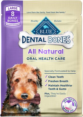 Blue Buffalo Dental Bones All Natural Large Dog Treats, 12-oz bag