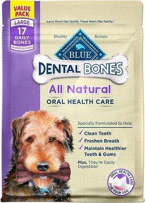 Blue Buffalo Dental Bones All Natural Large Dog Treats, 27-oz bag