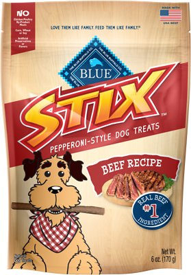Blue Buffalo Blue Stix Beef Recipe Pepperoni-Style Dog Treats